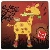 Label-Label Puzzle din lemn Girafa