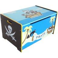 Style - Ladita din lemn pentru depozitare jucarii Blue Pirate Treasure Chest