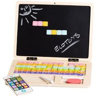 Ecotoys - Laptop educational din lemn