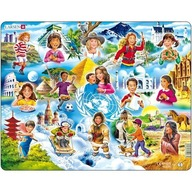 Larsen - Puzzle Copiii din Lume 15 Piese
