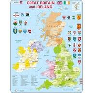Larsen - Puzzle Harta Politica a Marii Britanii si a Irlandei (EN) 48 piese