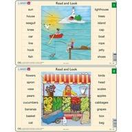 Larsen - Set 10 Puzzle-uri Read and Look 1 -10 (EN)  16 piese