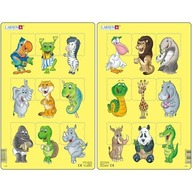 Larsen - Set 2 Puzzle-uri Animale 9 piese