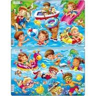 Larsen - Set 2 Puzzle-uri Copii la Mare 11 piese
