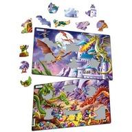 Larsen - Set 2 Puzzle-uri Dragoni 28 piese