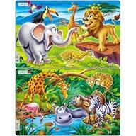 Larsen - Set 2 Puzzle-uri Safari 14 piese