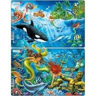 Larsen - Set 2 Puzzle-uri Sirene 15 piese