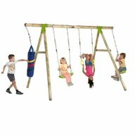 Plum - Leagan din lemn pentru 4 copii Capuchin®