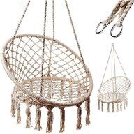 Ikonka - Leagan Suspendat Diametru 80 cm, Capacitate 150 kg, Bej