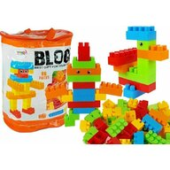 Lean toys - Blocuri de constructie, set 86 piese, cu plasa