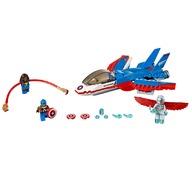 LEGO® Capitanul America si urmarirea avionului cu reactie