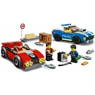 LEGO - Set de joaca Arest pe autostrada al politiei , ® City, Multicolor