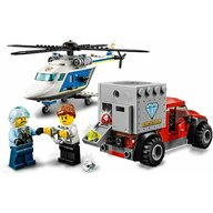 LEGO - Set de joaca Urmarire cu elicopterul politiei , ® City, Multicolor
