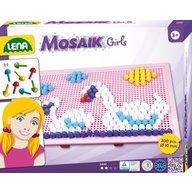 Lena - Set creatie si constructie Mozaic Tablita Roz 200 piese