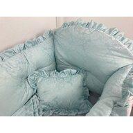 Deseda - Lenjerie de pat bebe 140x70 cm din Jackard Verde menta LUX by