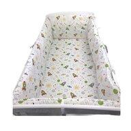 Deseda - Lenjerie de pat bebelusi cu aparatori laterale pufoase  Aventura ?®n spa?›iu pat 140x70 cm