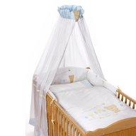 Easy-baby - Lenjerie pat bebe 4 piese 100/135 cm Teddy, Albastru