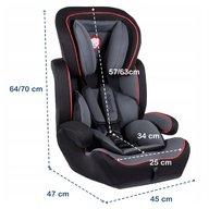 Lionelo - Scaun auto copii 9-36 Kg Levi Plus Black/ Red
