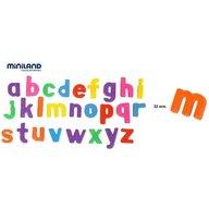 Miniland Litere mici magnetice Miniland 62 buc