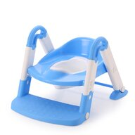 Little Mom - Reductor pentru toaleta cu scarita Stair Potty Blue