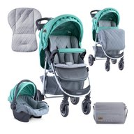 Lorelli - Carucior 2 in 1 Daisy , cos auto inclus , Green & Grey