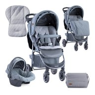 Lorelli - Carucior 2 in 1 Daisy , cos auto inclus , Grey