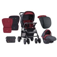 Lorelli  - Carucior set Aero cos auto inclus  Black & Red