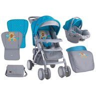 Lorelli Carucior set RIO Blue & Grey Hello Bear