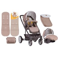 Lorelli - Carucior set S-500 cos auto inclus Beige & Yellow Happy family
