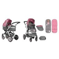 Lorelli - Carucior sistem Aurora 2 in 1 Rose & Grey Princess