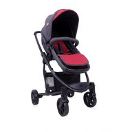 Lorelli - Carucior transformabil 2 in 1 Aster , Black & Red