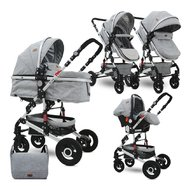 Lorelli - Carucior transformabil 3 in 1 Alba , Light Grey