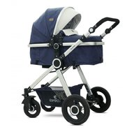 Lorelli - Carucior transformabil 3 in 1, Alexa, Dark Blue Birds