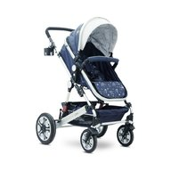 Lorelli - Carucior transformabil 3 in 1, Lora, Dark Blue Birds