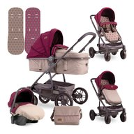 Lorelli - Carucior transformabil 3 in 1 S 500 , Beige & Red Dots