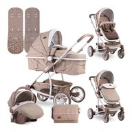 Lorelli - Carucior transformabil 3 in 1 S 500 , Beige Triangles