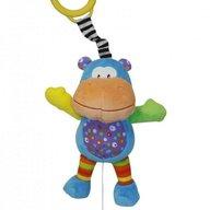 Lorelli - Jucarie muzicala din plus Funny Hippo, 26 cm