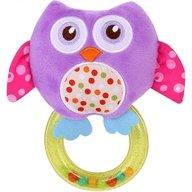 Lorelli - Jucarie zornaitoare din plus, Owl, 18,5 cm, cu inel, Purple