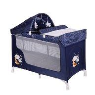 Lorelli - Pat pliant San Remo 2 Plus 2 nivele cu accesorii Blue Good Night Bear