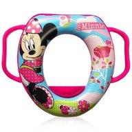 Lorelli - Reductor moale pentru toaleta, Disney, cu manere, Minnie Pink