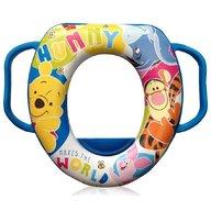 Lorelli - Reductor moale pentru toaleta, Disney, cu manere, Winnie the Pooh Blue