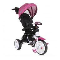 Lorelli - Tricicleta multifunctionala 4 in 1 Enduro, scaun rotativ, Violet Dots