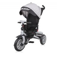 Lorelli - Tricicleta multifunctionala 4in1, Speedy, roti cu camera, scaun rotativ, Grey and Black
