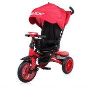 Lorelli - Tricicleta multifunctionala 4in1, Speedy, roti cu camera, scaun rotativ, Red and Black