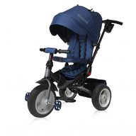 Lorelli - Tricicleta pentru copii Jaguar Air, multifunctionala, 4 in 1, roti mari cu camera, Blue Grey