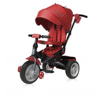 Lorelli - Tricicleta pentru copii Jaguar Air, multifunctionala, 4 in 1, roti mari cu camera,  Red