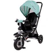 Lorelli - Tricicleta pentru copii Jet Air , roti mari cu camera , Green Stars