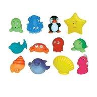 Ludi - Set 12 jucarii de baie animale marine