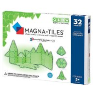 Magna-Tiles GLOW fosforescent set magnetic (32 piese)