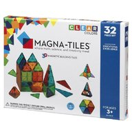 Magna-Tiles - Set magnetic Clear Colors, 32 piese